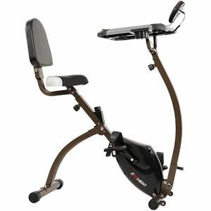 EFITMENT Folding Desk Bike Semi Recumbent Workstation Exercise Bike for Laptop