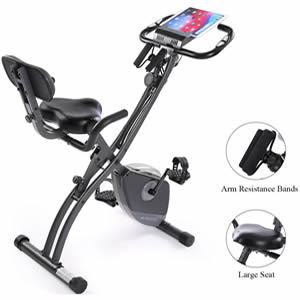 Exercise Bike Stationary Bike Foldable Magnetic Upright Recumbent Portable Fitness Cycle