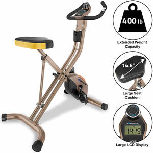 Exerpeutic Gold Heavy Duty Foldable Exercise Bike