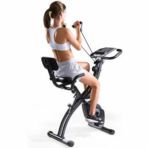 MaxKare Folding Magnetic Upright Exercise Bike Or Indoor Cycling Bike Stationary Bike Or Recumbent Exercise Bike