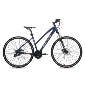 Hiland Hybrid Comfort Bicycle with Lock-Out Suspension Fork