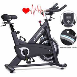 MaxKare Magnetic Exercise Bikes Stationary Belt Drive Indoor Cycling Bike